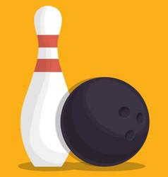 Bowling sport design vector