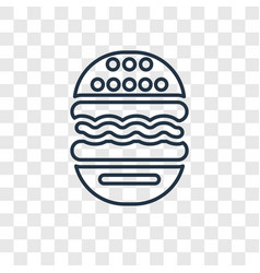 Burger concept linear icon isolated on vector