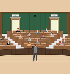 businessman conference or presentation at vector image