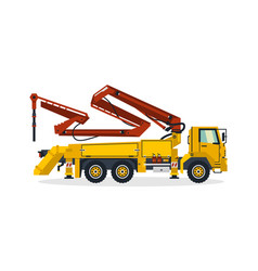 concrete pump commercial vehicles construction vector image