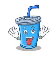 Crazy soda drink character cartoon vector