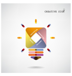 Creative light bulb Idea concept background vector image