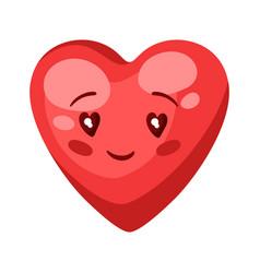 cute heart celebrating valentine vector image