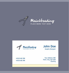 cutter logo design with business card template vector image