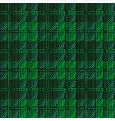 Dark green tartan vector