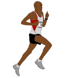 Detailed of marathon runner vector