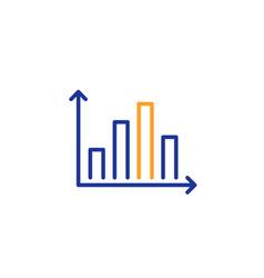 diagram graph line icon column chart sign vector image