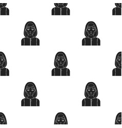 Drug addict man icon in black style isolated on vector