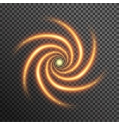 fire sparkle spiral wave line with flying vector image