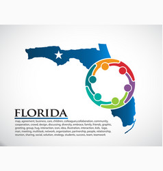 florida organization community people vector image