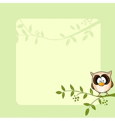 Frame design with cute owl vector