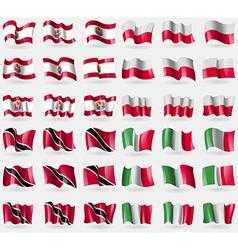French Polynesia Poland Trinidad and Tobago Italy vector