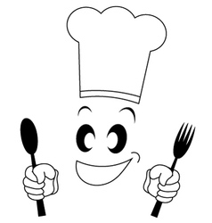 Funny chef symbol vector