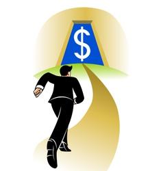 Go to big money vector image