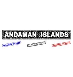 grunge andaman islands textured rectangle stamp vector image