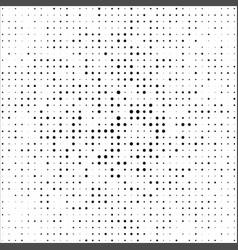 halftone black dot background vector image