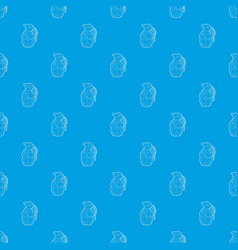 hand grenade pattern seamless blue vector image