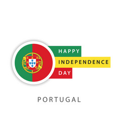 Happy portugal independence day template design vector