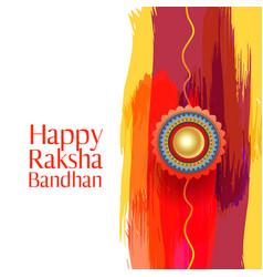 Happy raksha bandhan indian brother and sister vector