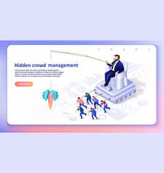 hidden crowd management vector image