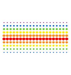 Hint shape halftone spectrum effect vector