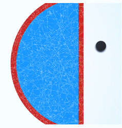 hockey surface with puck vector image