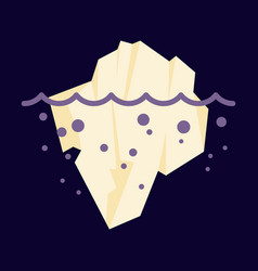 Iceberg icon isolated on background ice berg icon vector
