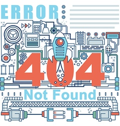 Infographics elements concept of 404 Error vector image