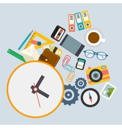 infographics work schedule at office vector image