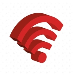 isometric signal wifi isolated icon design vector image