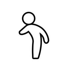 Male pictogram icon Person design graphic vector image