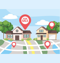 Map location to house property sale vector