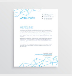 minimal letterhead design template with lines vector image