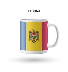 Moldova flag souvenir mug on white background vector