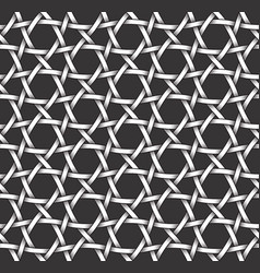 monochrome seamless pattern of hexagon shaped vector image