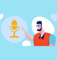 Online blogging podcasting vector