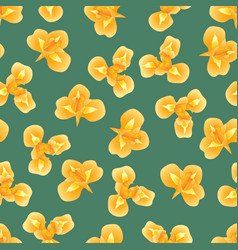 orange iris flower on green teal background vector image