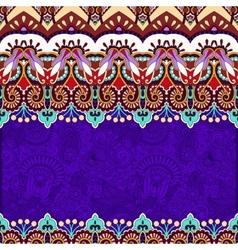Ornamental floral folkloric violet background for vector