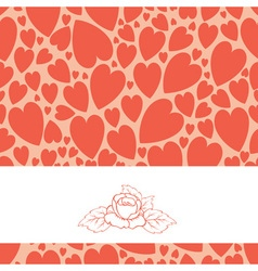 Pattern of hearts vector