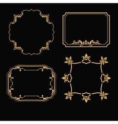 Patterned gold frame vector
