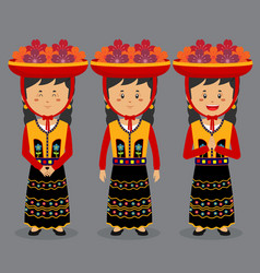 Peru character with various expression vector