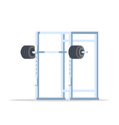 Picture of squat rack vector