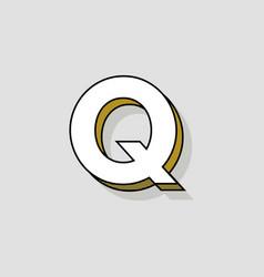 pop art logo letter q vector image
