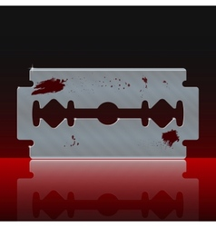 Razor Blade Stained with Blood vector image
