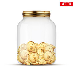 saving money coin in jar vector image