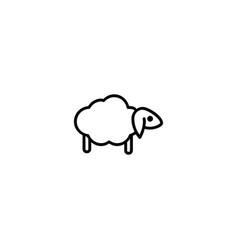 sheep lamp icon vector image