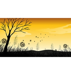 Silhouette Field vector image