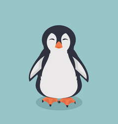 Smiling penguin cartoon vector