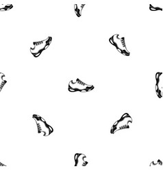 sneakers for tennis pattern seamless black vector image