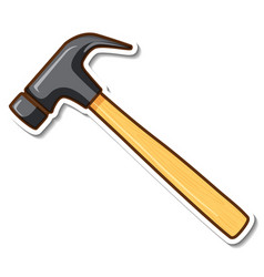 sticker design with claw hammer isolated vector image